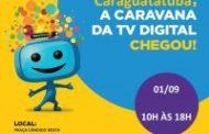 Caravana da TV Digital esclarece sobre o desligamento do sinal analógico em Caraguatatuba