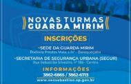 Guarda Mirim inicia processo de inscrição para o ano letivo de 2019