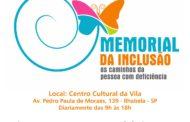 """Ilhabela recebe """"Memorial da Inclusão Retrátil: Os Caminhos da Pessoa com Deficiência"""""""