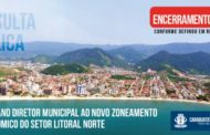 Munícipes tem até dia 28 de fevereiro para participar de Consulta Pública para adequação do Plano Diretor ao ZEE/SLN