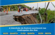 Rodovia SP-55 será interditada durante as madrugadas dos próximos dias 20, 21 e 22