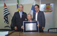 Comendador Mitsuo Kashiura recebe honraria da Câmara Municipal