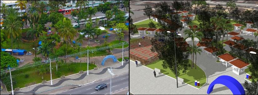 Prefeito assina ordem de serviço para início das obras das Praças Diógenes Ribeiro e Antônio Fachini