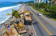 Prefeitura de Caraguatatuba realiza vistoria técnica em área atingida por ressaca no Massaguaçu