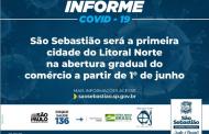 São Sebastião será a primeira cidade do Litoral Norte na abertura gradual do comércio a partir de 1º junho