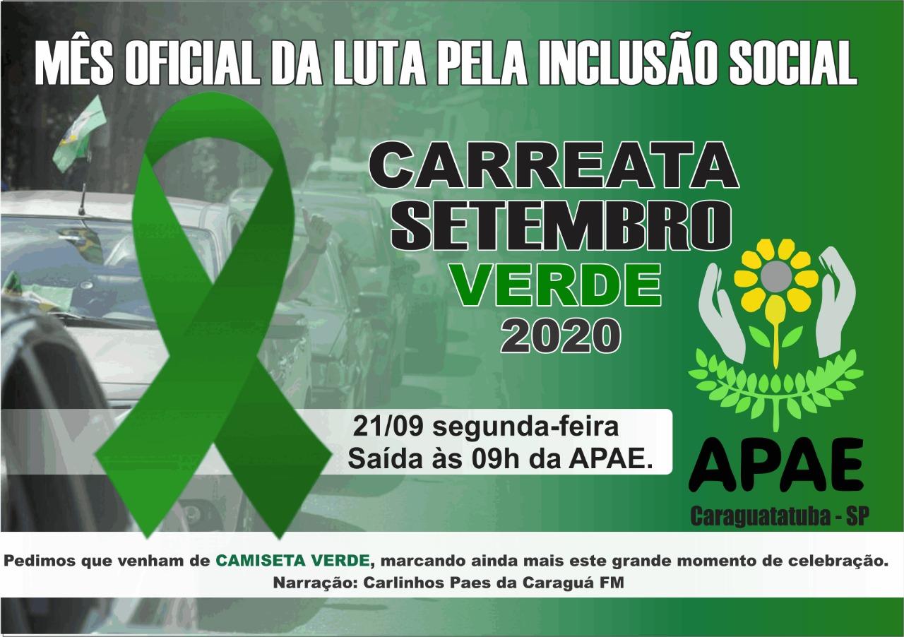 Apae de Caraguatatuba promove carreata para marcar Dia Nacional da Pessoa com Deficiência Intelectual