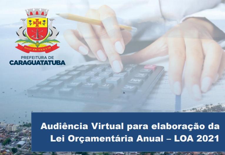 Material da Audiência Pública Eletrônica da LOA da Prefeitura de Caraguatatuba permanece no site até dia 7