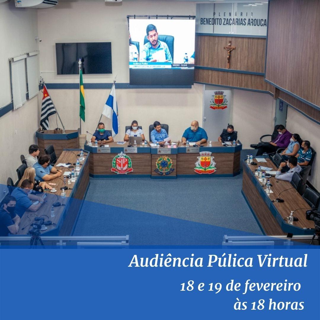 População pode encaminhar perguntas para participação em Audiências Públicas Virtuais nos dias 18 e 19
